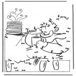 Lavori manuali - Disegna seguendo i numeri 2