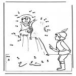 Lavori manuali - Disegna seguendo i numeri 4