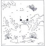 Lavori manuali - Disegna seguendo i numeri - Anatra