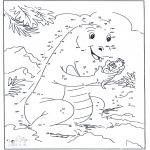 Lavori manuali - Disegna seguendo i numeri - Drago