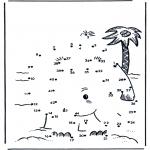 Lavori manuali - Disegna seguendo i numeri isola 2