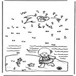 Lavori manuali - Disegna seguendo i numeri isola