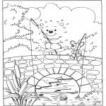 Lavori manuali - Disegna seguendo i numeri - orso 2
