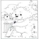 Lavori manuali - Disegna seguendo i numeri - orso 3