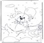 Disegna seguendo i numeri - orso 4