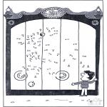 Lavori manuali - Disegna seguendo i numeri - zoo 10