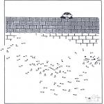 Lavori manuali - Disegna seguendo i numeri - zoo 11