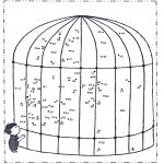 Lavori manuali - Disegna seguendo i numeri - zoo 2