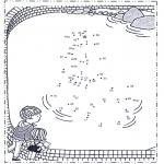 Lavori manuali - Disegna seguendo i numeri - zoo 3