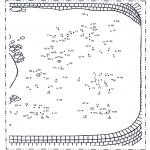 Lavori manuali - Disegna seguendo i numeri - zoo 4