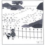Lavori manuali - Disegna seguendo i numeri - zoo 5