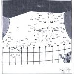 Lavori manuali - Disegna seguendo i numeri - zoo 6