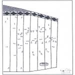 Lavori manuali - Disegna seguendo i numeri - zoo 7
