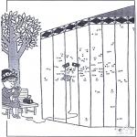 Lavori manuali - Disegna seguendo i numeri - zoo 8