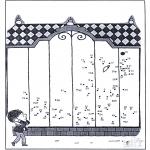 Lavori manuali - Disegna seguendo i numeri - zoo 9