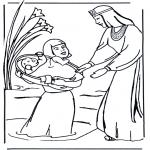 Disegni biblici da colorare - Disegno biblico da colorare - Mosè