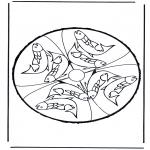 Disegni da bucherellare - Disegno da bucherellare ' animali