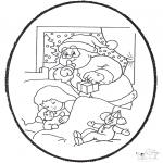 Disegni da bucherellare - Disegno da bucherellare ' babbo natale