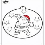 Disegni da colorare Natale - Disegno da bucherellare ' Babbo Natale