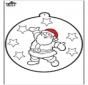 Disegno da bucherellare ' Babbo Natale