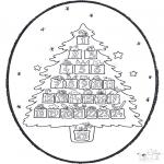 Disegni da bucherellare - Disegno da bucherellare ' Calendario dellAvvento