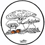 Disegni da bucherellare - Disegno da bucherellare ' Fungi