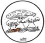 Disegno da bucherellare ' Fungi