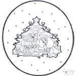 Disegni da colorare Natale - Disegno da bucherellare ' Natale 1
