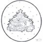 Disegno da bucherellare ' Natale 1