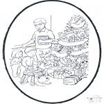 Disegni da colorare Natale - Disegno da bucherellare ' Natale  10