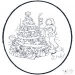 Disegni da colorare Natale - Disegno da bucherellare ' Natale 11