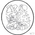 Disegni da colorare Natale - Disegno da bucherellare ' Natale 12
