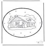 Disegni da colorare Natale - Disegno da bucherellare ' Natale 15