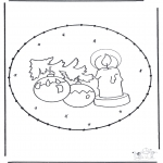 Disegni da colorare Natale - Disegno da bucherellare ' Natale 16