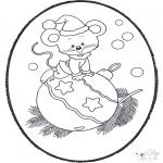 Disegni da colorare Natale - Disegno da bucherellare ' Natale 19