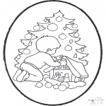 Disegni da colorare Natale - Disegno da bucherellare ' Natale 22