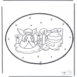 Disegni da colorare Natale - Disegno da bucherellare ' Natale 23