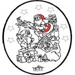 Disegni da colorare Natale - Disegno da bucherellare ' Natale 24