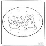 Disegni da colorare Natale - Disegno da bucherellare ' Natale 26