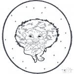 Disegni da colorare Natale - Disegno da bucherellare ' Natale  3