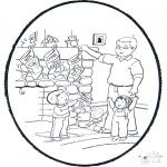 Disegni da colorare Natale - Disegno da bucherellare ' Natale  6