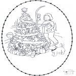 Disegni da colorare Natale - Disegno da bucherellare ' Natale  7
