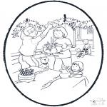 Disegni da colorare Natale - Disegno da bucherellare ' Natale  8