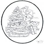 Disegni da colorare Natale - Disegno da bucherellare ' Natale  9
