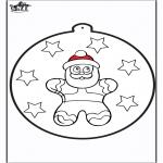 Disegni da colorare Natale - Disegno da bucherellare ' Omino di zenzero 2