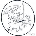 Disegni da bucherellare - Disegno da bucherellare ' Pooh 1