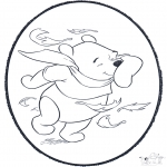 Disegni da bucherellare - Disegno da bucherellare ' Pooh 2