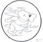 Disegno da bucherellare ' Pooh 2