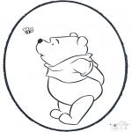 Disegni da bucherellare - Disegno da bucherellare ' Pooh 3