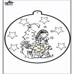 Disegni da colorare Natale - Disegno da bucherellare ' Regalo di Natale 2